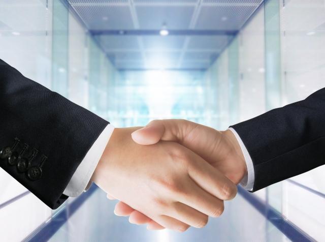 握手、ビジネス、提携