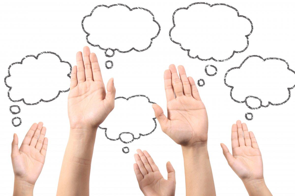 質問、手、クエスチョン