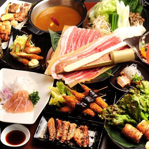 豚肉、しゃぶしゃぶ、野菜
