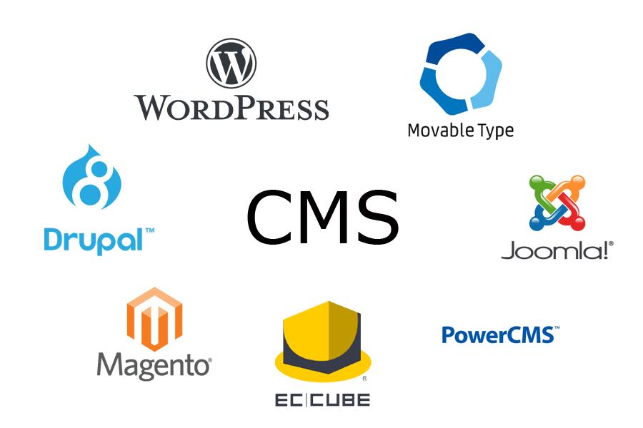 CMS、ロゴ、ワードプレス