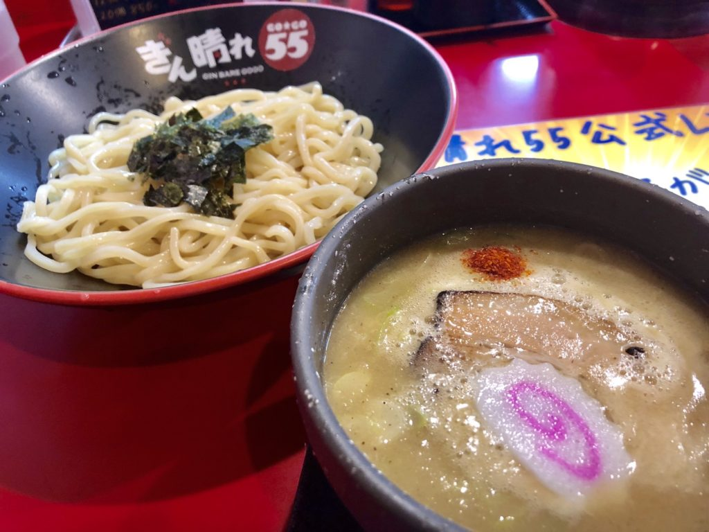 つけ麺、太麺、ぎん晴れ55刈谷店