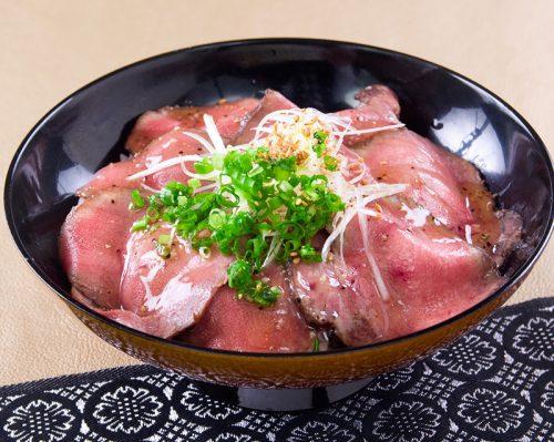 塩ダレ牛タンローストビーフ丼御膳