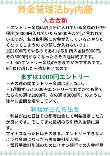 資金管理法by内藤